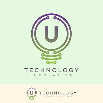 Technologie innovation anfangsbuchstabe u logo design