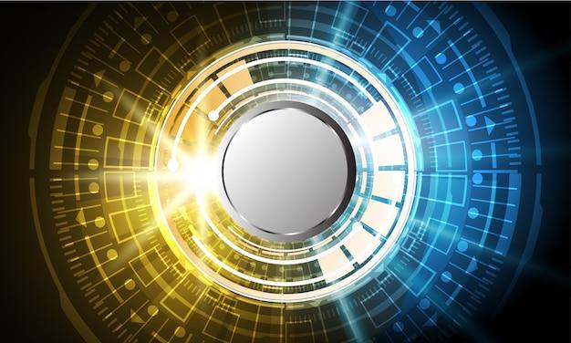 Technologie-innovations-konzepthintergrund des abstrakten kreis sci fi futuristischer