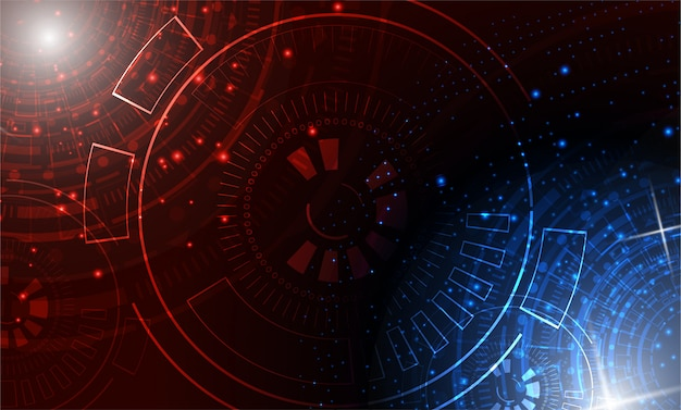 Technologie-innovationshintergrund des kreis-sci fi futuristischer
