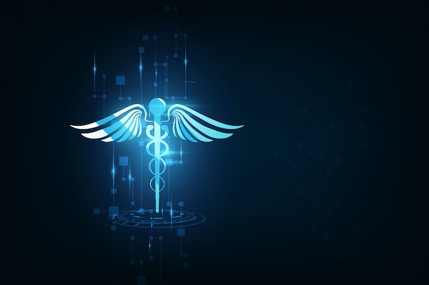 Technologie-innovationskonzept des gesundheitswesenhintergrundes