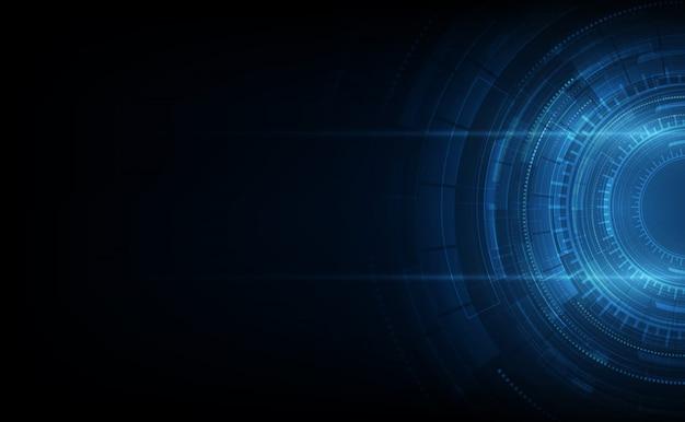 Technologie-kommunikationskonzept des vektorhintergrundes abstraktes