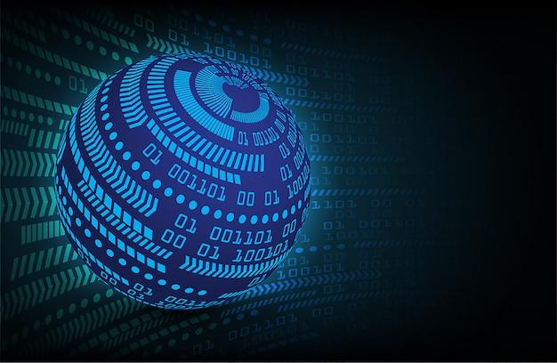 Technologie-konzepthintergrund der blauen weltcyberstromkreiszukunft