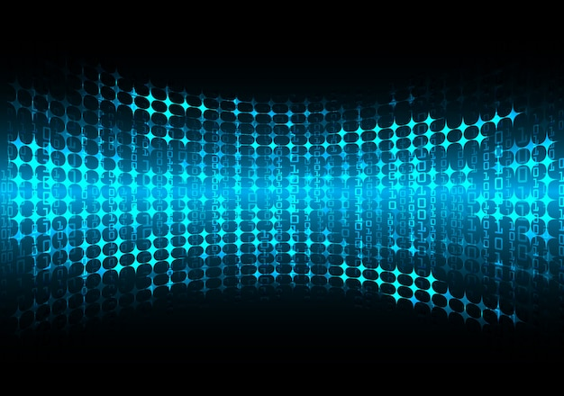 Technologie-konzepthintergrund des blauen cyberstromkreises zukünftiger, geführt