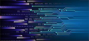 Technologie-Konzepthintergrund des blauen Pfeil Cyber-Stromkreises zukünftiger