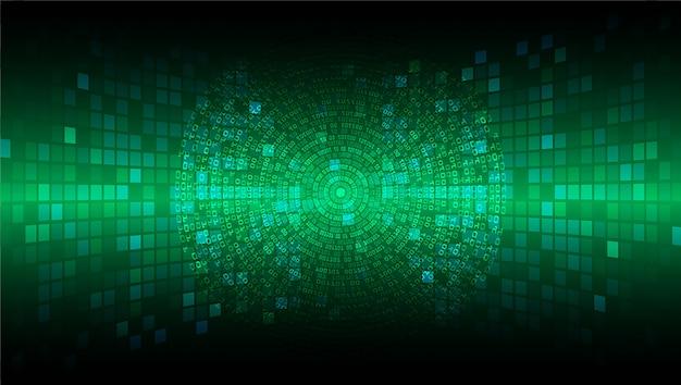 Technologie-konzepthintergrund des grünen cyberstromkreises zukünftiger