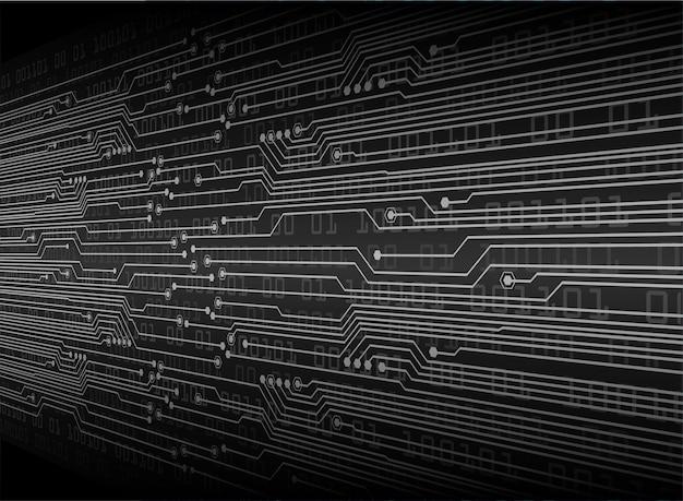 Technologie-konzepthintergrund des schwarzen cyberstromkreises zukünftiger
