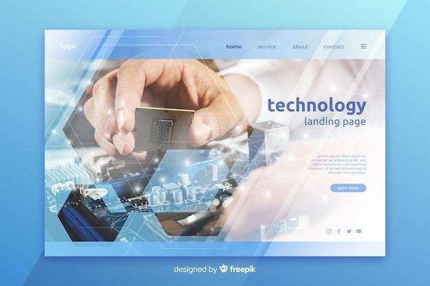 Technologie-landingpage mit foto