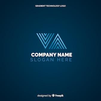 Technologie logo hintergrund
