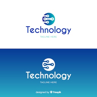 Technologie-logo im farbverlauf