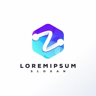 Technologie-logo-vorlage gebrauchsfertig