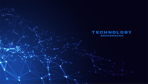 Technologie low poly mesh verbindungsnetzwerk
