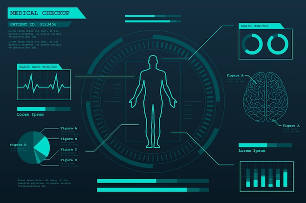 Technologie medizinische infografik