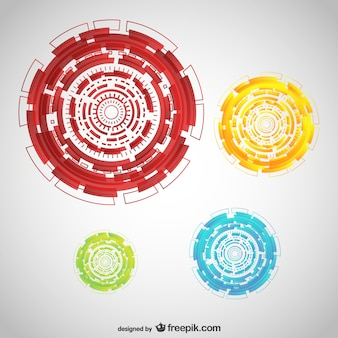 Technologie runden ornamente