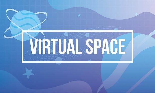 Technologie-symbol für virtuelle weltraumszenen