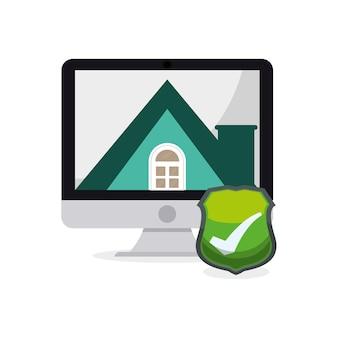 Technologie-system smart-home-sicherheit