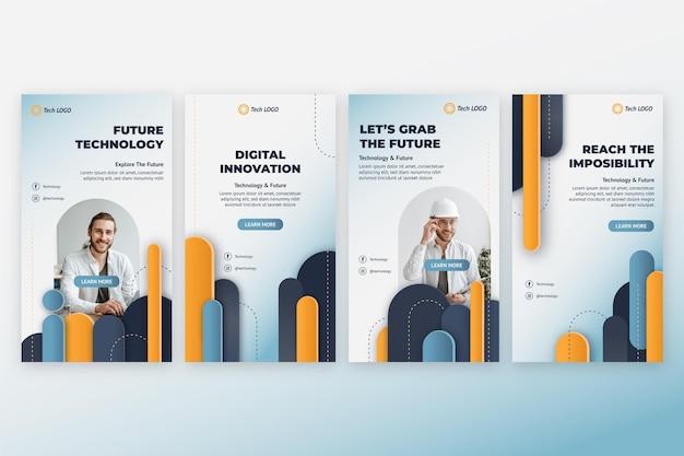 Technologie-template-design von insta-storys