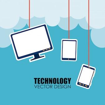 Technologie über wolkengebilde