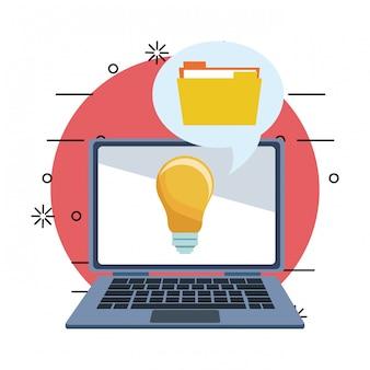 Technologie und große idee
