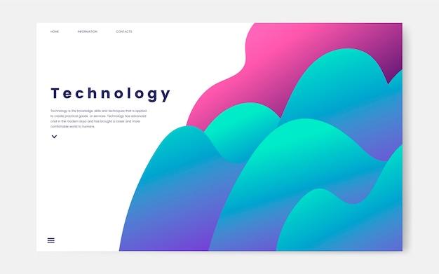 Technologie- und it-informationsseitengrafik