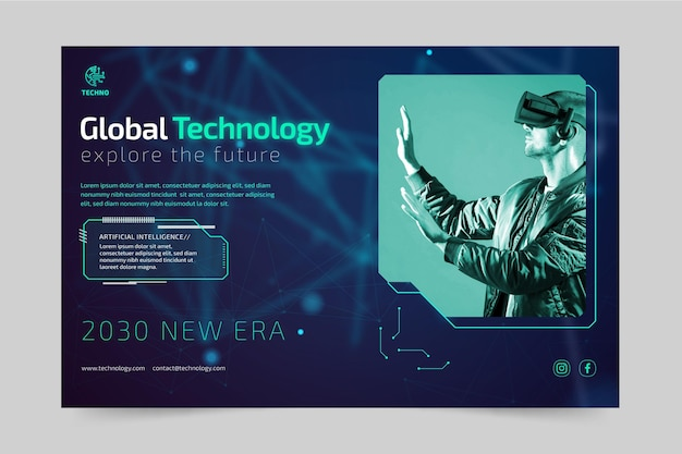 Technologie und zukünftige bannervorlage