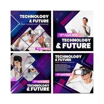 Technologie und zukünftige instagram-beiträge
