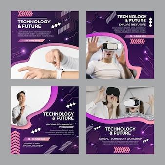 Technologie und zukünftige instagram-post-sammlung