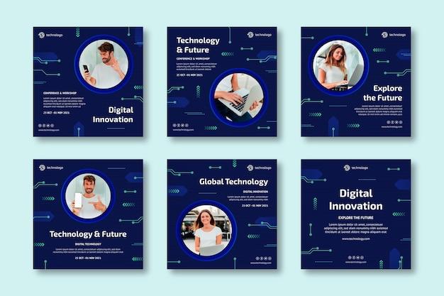 Technologie und zukünftige instagram-posts
