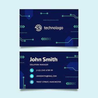 Technologie und zukünftige visitenkarte