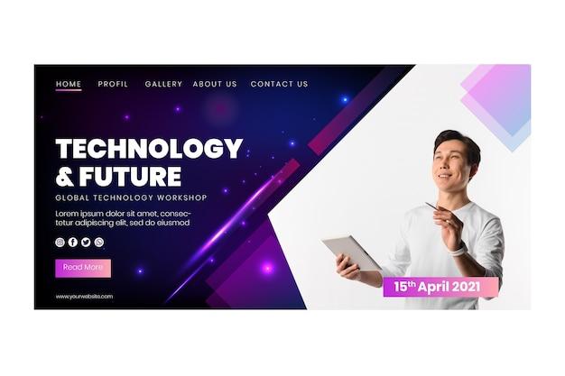 Technologie und zukünftige zielseite
