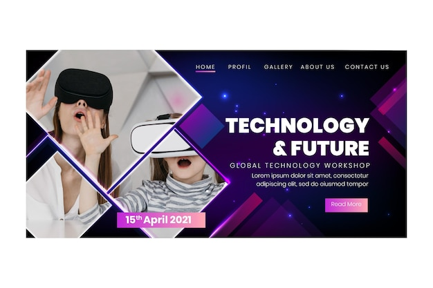 Technologie und zukünftige zielseitenvorlage