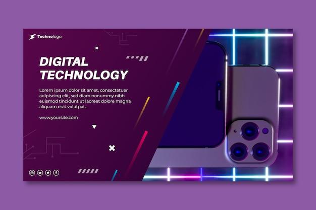 Technologie und zukünftiges banner Premium Vektoren