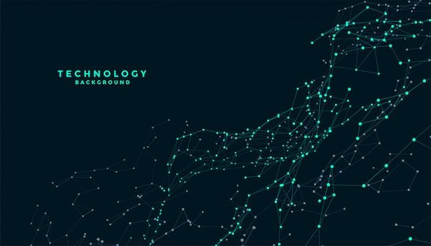 Technologie-verbindungslinien greifen digitales hintergrunddesign ein