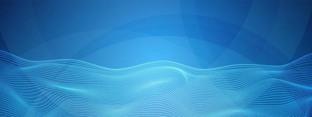 Technologie verzerrte linien digitaler netzwerkhintergrund überlappendes kreiskommunikationskonzept