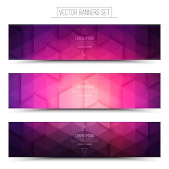 Technologie web banner set