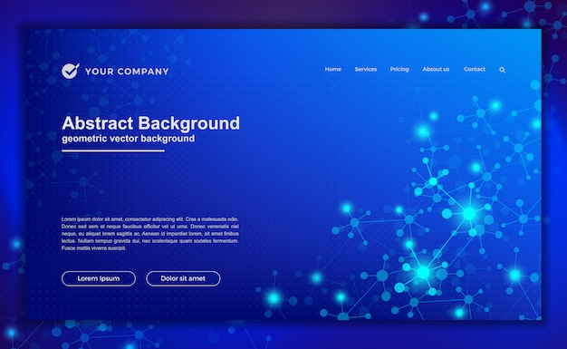 Technologie, wissenschaft, futuristischer hintergrund für website-designs oder landing-page.