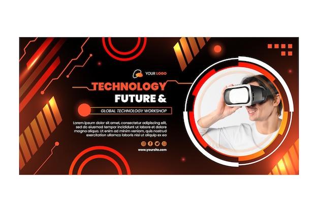 Technologie & zukünftige banner vorlage