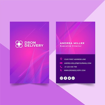 Technologie & zukünftige doppelseitige visitenkarte