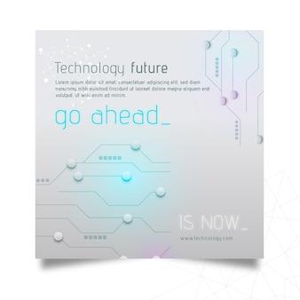 Technologie & zukünftiger flyer square