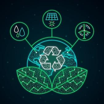 Technologiedesign für ökologiekonzept