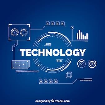 Technologiehintergrund in der flachen art