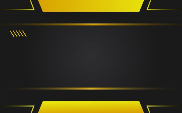 Technologiehintergrund in der gelben und schwarzen farbe