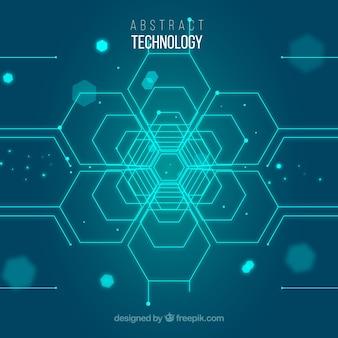 Technologiehintergrund mit punkten ans linien