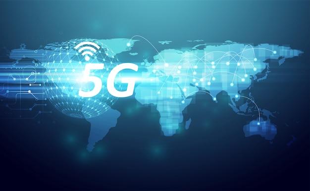 Technologiehintergrund wifi des drahtlosen internets 5g