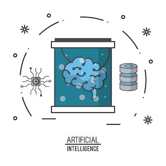 Technologieillustration der künstlichen intelligenz