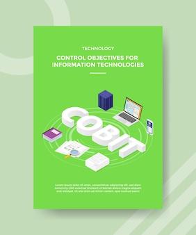 Technologiekontrollziele für flyer-vorlage für informationstechnologien
