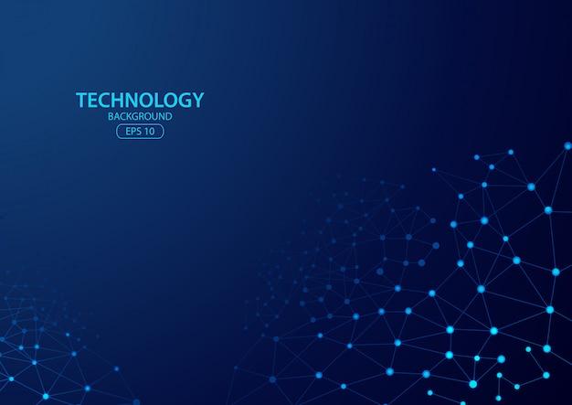 Technologiekonzept digital mit blauem hintergrund. illustration