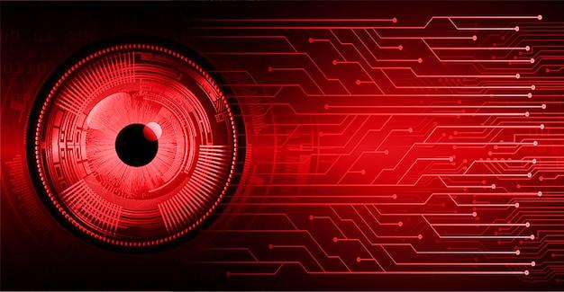 Technologiekonzept-hintergrund des zukünftigen technologiekonzeptes des roten auges