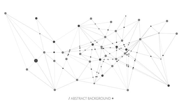 Technologiekonzept verbundene linien und punkte netzwerkzeichen geometrisch verbunden