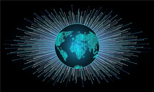 Technologiekonzepthintergrund des weltcyber-stromkreises zukünftiger