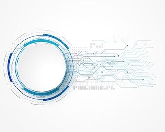 Technologiekonzepthintergrund mit Maschendraht- und -textraum